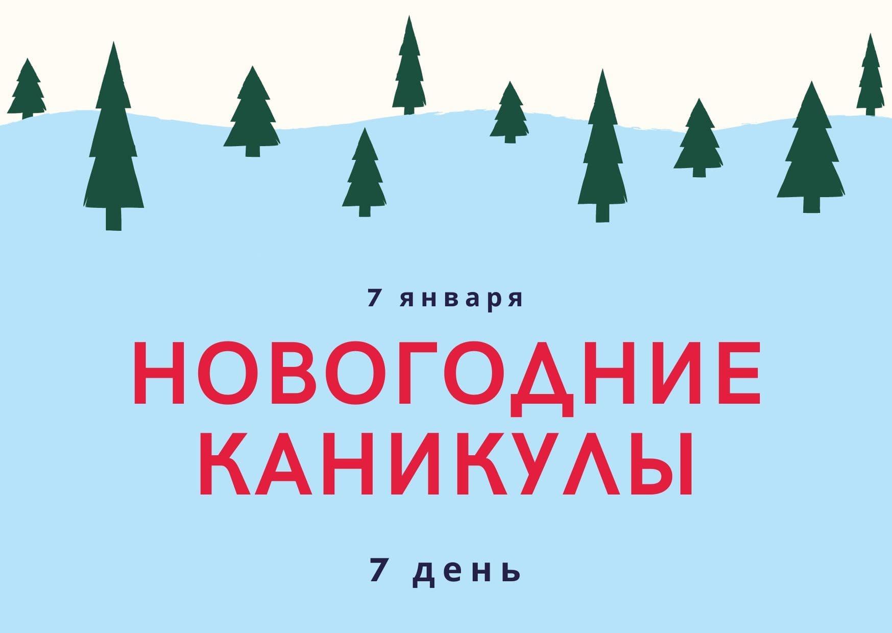 Новогодние каникулы. 7 день. 7 января