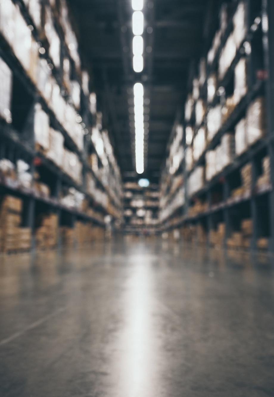 blurry background of warehouse, concept of international export