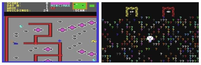 Lunar Outpost y Puzzle Panic, ambos de 1984. Y a cada cual más raro…