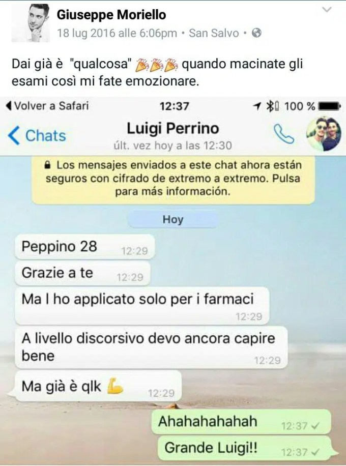 Luigi perrino - Testimonianze