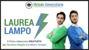 Metodo Universitario videocorso laurea lampo