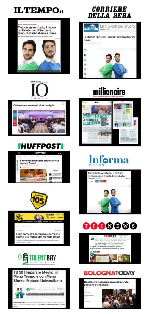 Rassegna Stampa Metodo Universitario opinioni giornali testimonianze
