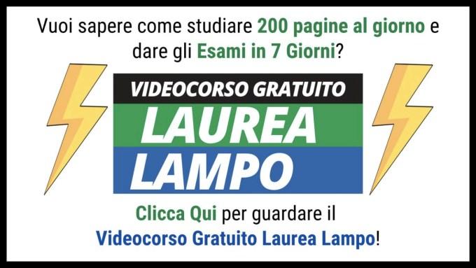 Laurea Lampo 1 - I nostri Corsi sul Metodo Universitario