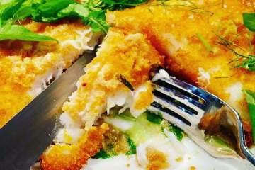 Fried rockling fillets recipe