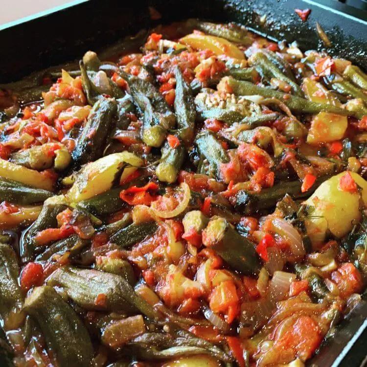 oven baked okra recipe bamies ladera