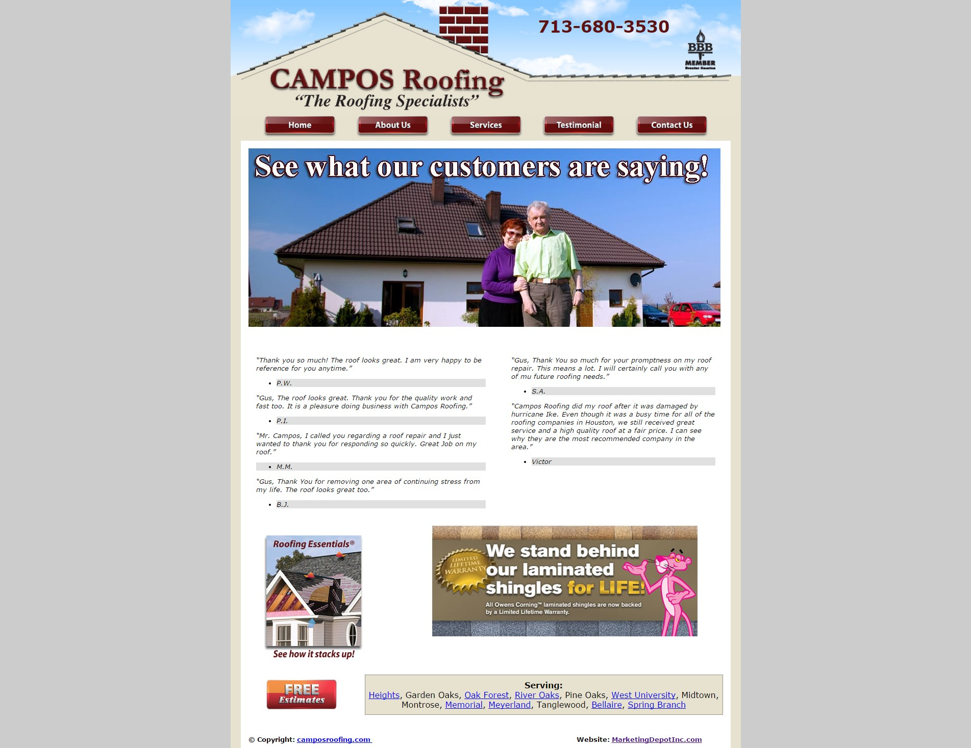 ... Campos Roofing ...