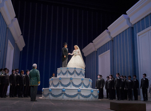 "A scene from Rossini's ""La Cenerentola.""   Photo: Ken Howard/Metropolitan Opera"