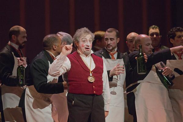 "Alessandro Corbelli as Don Magnifico in Rossini's ""La Cenerentola.""  Photo: Ken Howard/Metropolitan Opera"