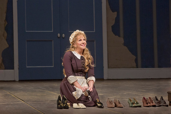 "Joyce DiDonato as Angelina in Rossini's ""La Cenerentola.""   Photo: Ken Howard/Metropolitan Opera"
