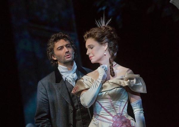 "Jonas Kaufmann as the title character and Sophie Koch as Charlotte in Massenet's ""Werther.""  Photo: Ken Howard/Metropolitan Opera"