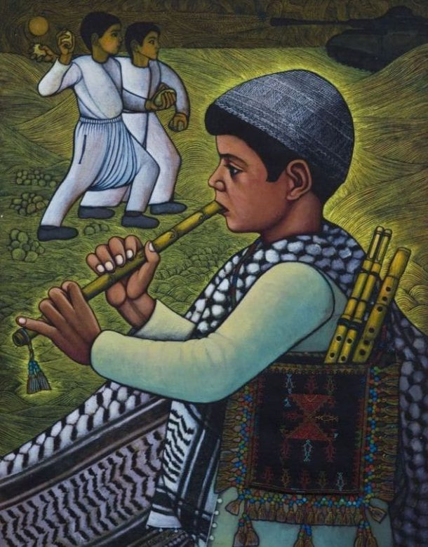 لوحة لـ عبد الرحمن المزين