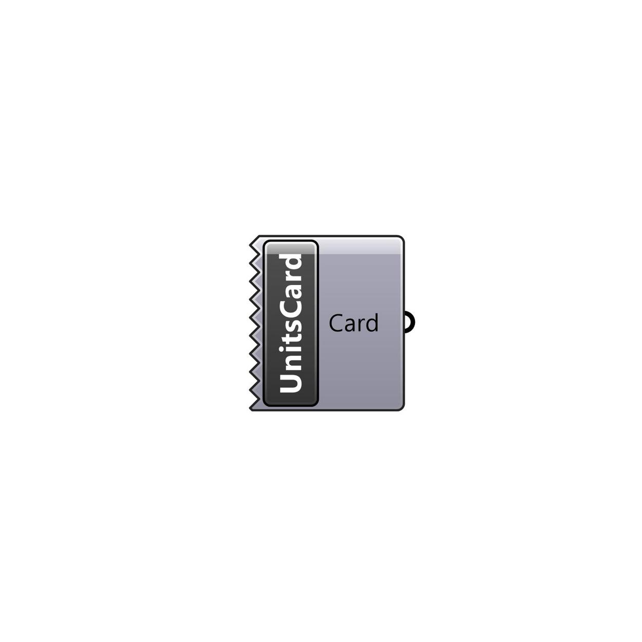 Units Card component