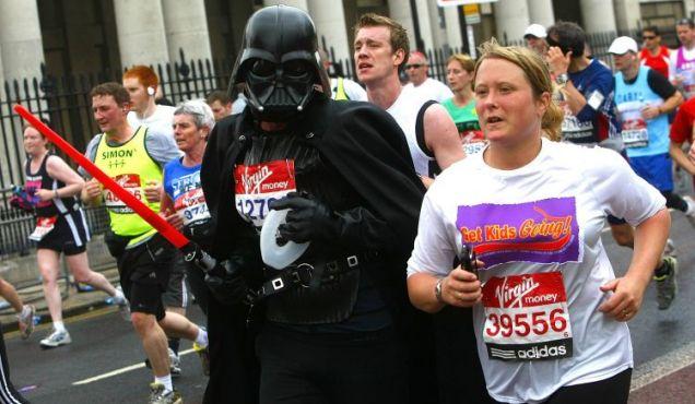 London Marathon Darth Vader
