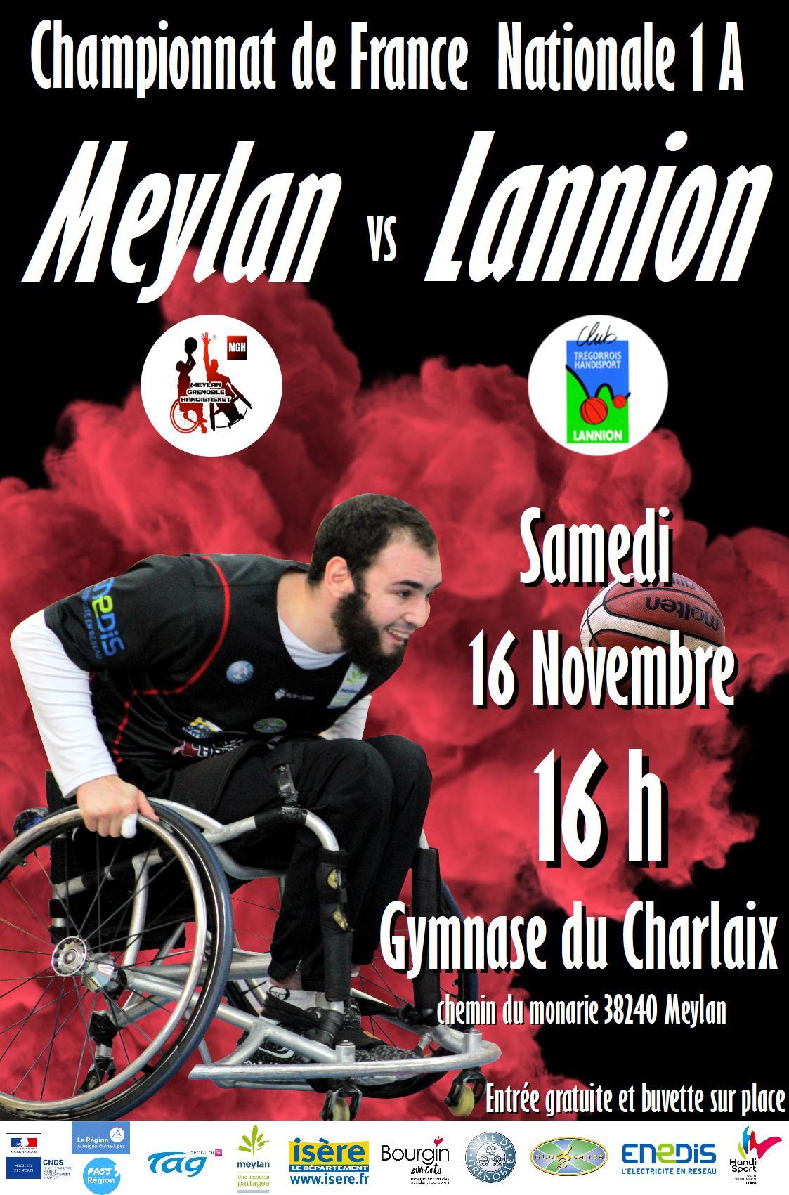 Le Meylan Grenoble Handibasket humilié - Métro-Sports