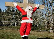 Crucified Santa