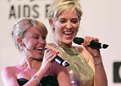 Kylie's Cannes duet with Stone