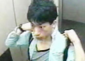 New footage of 'sand bath' suspect