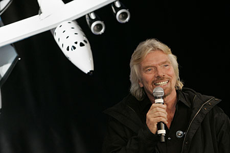 Richard Branson SpaceShipTwo
