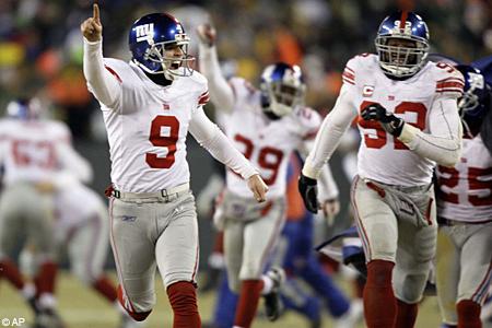 NY Giants celebrate