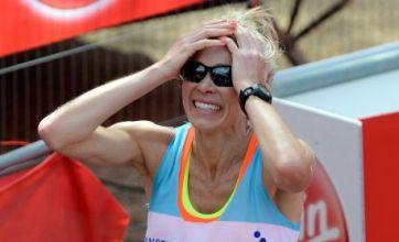 Naked Nell McAndrew's bare breast run