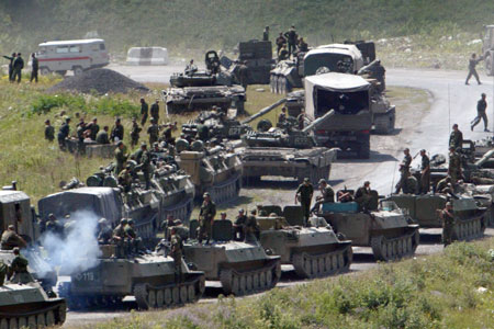 Russian troops pour into Russia last year