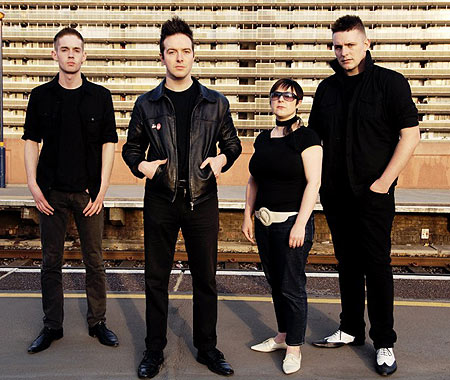 Glasvegas singer James Allan (second from the left) was missing for five days