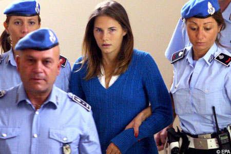 Amanda Knox led to court