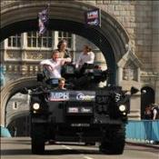 Top Gear hosts take on the world in a tank