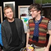 Pop Stars Albarn and Graham reunite