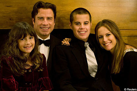 Extortion row in court over death of Travolta's son