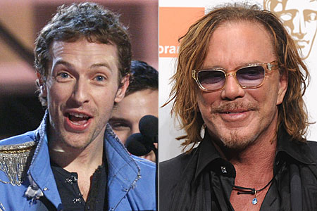 Coldplay's Chris Martin says he filled in wife Gwyneth Paltrow's Oscar voting form and nominated Mickey Rourke