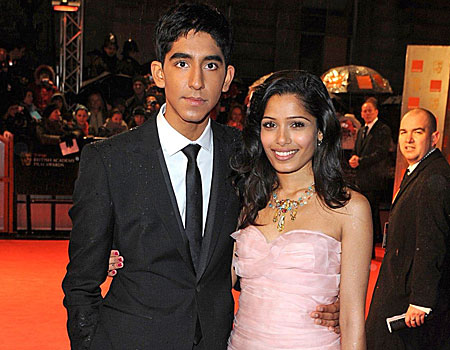 Slumdog Millionaire stars Dev Patel and Freida Pinto at last night's Bafta ceremony