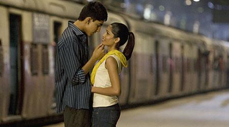 Dev Patel and Freida Pinto star in Slumdog Millionaire