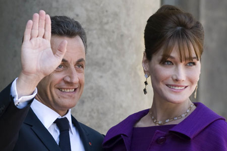 Carla Bruni with her husband Nicolas Sarkozy