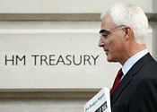 Chancellor Alistair Darling is struggling to control the public finances