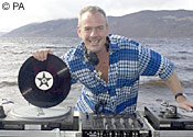 Fatboy Slim is hard at work
