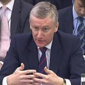 Former chief executive of RBS Sir Fred Goodwin gives evidence to the Commons Treasury Committee