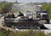 Russian troops in Georgia last Summer