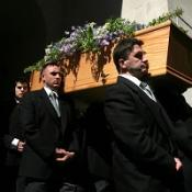 PM and Bono at Sir Clement funeral