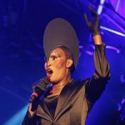 Grace Jones gets out of bed for gig