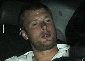 Andrew Flintoff slumps in car after Ashes victory