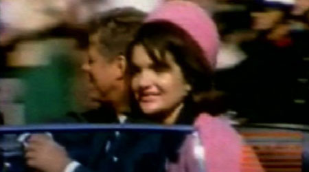 President John F Kennedy and his wife Jackie moments before he was shot.