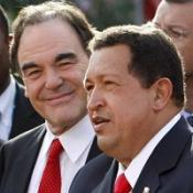Oliver Stone and Hugo Chavez walked the red carpet together
