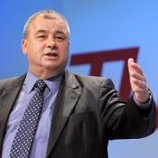 TUC general secretary Brendan Barber is critical of large pensions