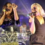 Keisha Buchanan and Heidi Range performed without Amelle Berrabah