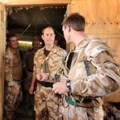 Prince Edward visits British troops in Helmand province, Afghanistan