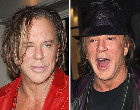 High spirits: Mickey Rourke likes to party - especially when he's in London
