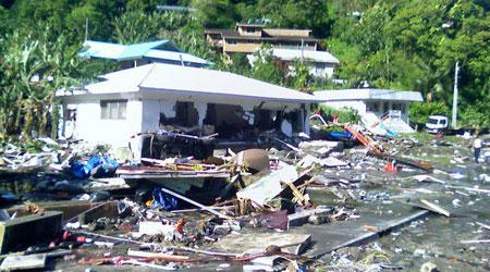 Devastation after the tsunami