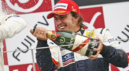 Fernando Alonso was a winner in Japan 12 months ago