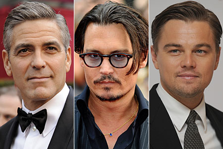 George Clooney, Johnny Depp and Leonardo DiCaprio are all in the running